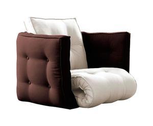 Multifunktionaler Futon-Sessel DICE, beige/braun