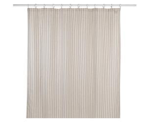Duschvorhang Chervon aus Leinen und Baumwolle, 183 x 183 cm