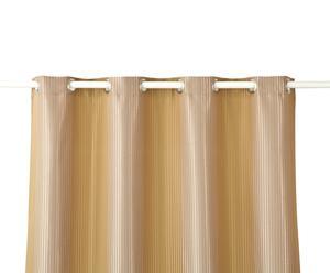 Ösen-Vorhang AZNAVOUR, creme/beige, 280 x 135 cm