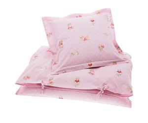 Babybettwäsche-Garnitur Pink Teddy, 2-tlg., 80 x 65 cm
