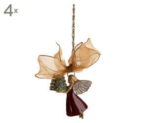Weihnachtsschmuck Flying Angel, 4 Stück