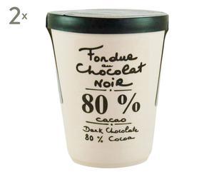 Schokoladenfondue Dark 80%, 2 x 200 g
