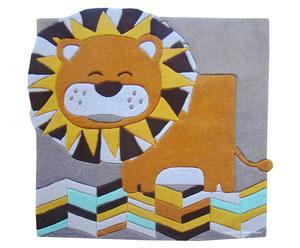 Handgetufteter Teppich Lalo, 120 x 115 cm