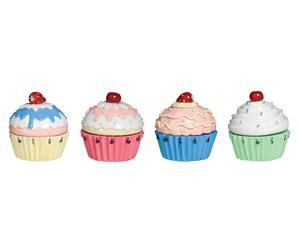 Küchenuhren-Set Cupcake, 4-tlg.