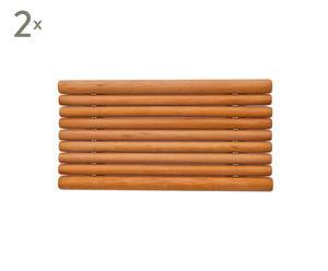 Seifenablagen Micado aus Buchenholz, 2 Stück