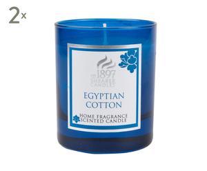 Duftkerzen EGYPTIAN COTTON, 2 Stück