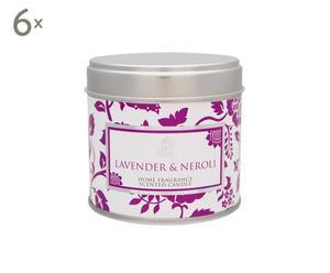 Duftkerzen Lavender & Neroli, 6 Stück, H 7 cm