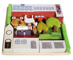 Handgefertigtes Kinderspielzeug Stadt