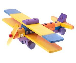 Handgefertigtes Kinderspielzeug FLUGZEUG, 16-tlg.