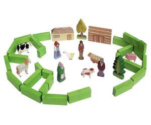 Handgefertigtes Kinderspielzeug DORF, 40-tlg.