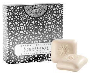 Seifen Snowflake in Geschenkbox, 4 Stück