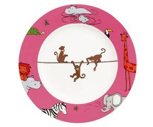 Fine Bone China-Kinderteller Funny Zoo, Ø 22 cm