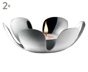 Teelichthalter Flower, 2 Stück, Ø 10 cm