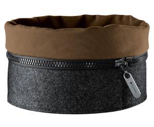 Filzkorb Zipp, grau/braun, Ø 23 cm