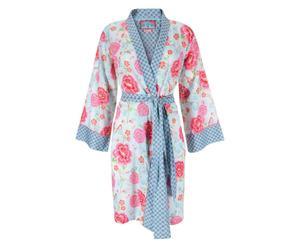 Kimono Nella, hellblau/pink, Gr. XS