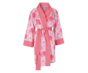 Kimono Nella, rot/pink, Gr. XL