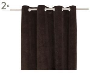 Vorhang Luciano, 2 Stück, braun, 140 x 245 cm
