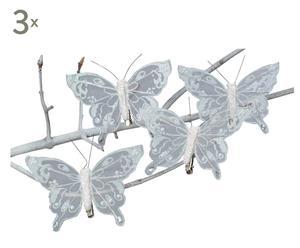 Schmetterling-Clips Alfred, 12 Stück, L 12 cm