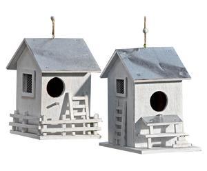 Vogelhäuser Eva, 2 Stück, B 14 cm