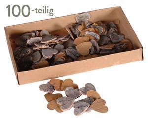 Deko-Herzen Birch, 100 Stück