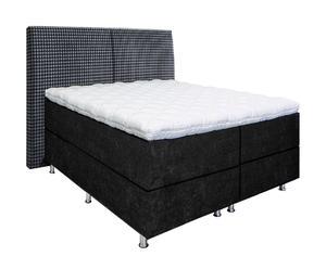 Handgefertigtes Premium-Boxspringbett Josefine Basic, schwarz, H 2 bis 3, 180 x 200 cm