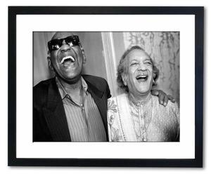 Gerahmte Fotografie Ray Charles & Ravi Shanka, 50 x 40 cm