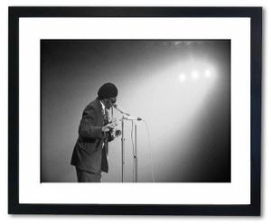 Gerahmte Fotografie Dexter Gordon 1963, 50 x 40 cm