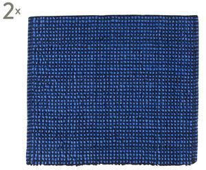 Badematten Tayra, 2   Stück, marineblau/royalblau, 55 x 65 cm