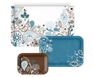 Tablett-Set Decoration, 3-tlg.