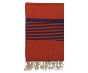 XL-Tischdecke Lima, orange/dunkelblau, 190 x 290 cm