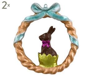 Deko-Anhänger Rabbit, 2 Stück, H 9 cm