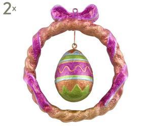 Deko-Anhänger Egg, 2 Stück, H 9 cm