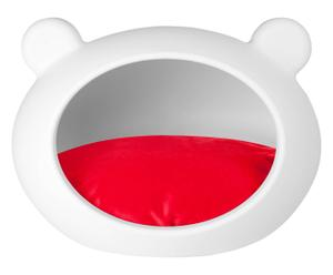 Hundebett Cave, weiß/rot, B 52 cm