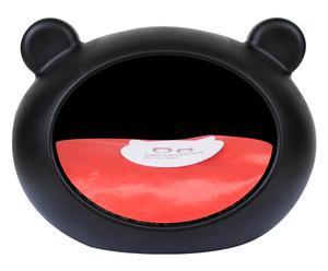 Hundebett Cave, schwarz/rot, B 52 cm
