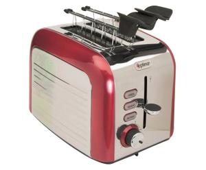 Toaster American, rot/silberfarben, B 31 cm