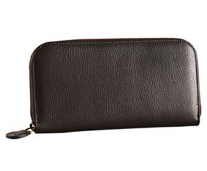 Portemonnaie Classic Glattleder, schwarz, 11 x 20 cm