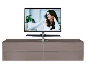 TV-Board Media mit 2 Klappen & 2 Schubladen, TV-Halterung mittig, grau, B 228 cm