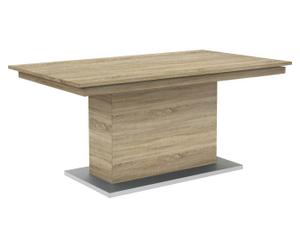 Esstisch Deck mit Säulenfuß, eiche/silbergrau, B 160 cm