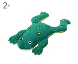 Hundespielzeug Froggy, 2 Stück, grün, L 38 cm