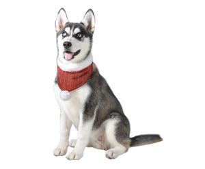 Hundehalstuch Lassie, tartan, L 38 bis 44 cm