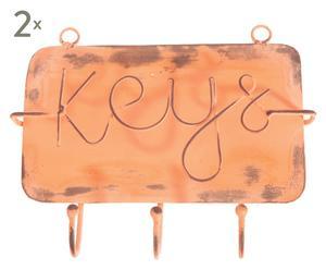 Schlüsselbretter Keys, 2 Stück, L 13 cm