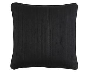 Seiden-Kissenhülle Teve, schwarz, 40 x 40 cm