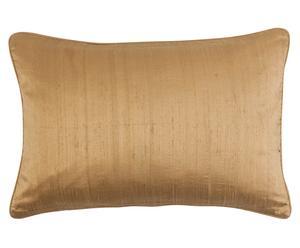 Seiden-Kissenhülle Teve, bronzefarben, 40 x 60 cm