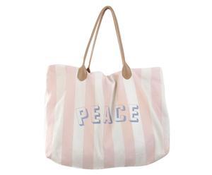Strandtasche Stripes, rosa/creme/blau, B 48 cm