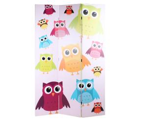 Paravent Owls & Butterflies, beidseitig bedruckt, B 120 cm
