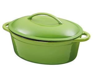 Eisengusstopf LORENZ, grün, L 30 cm