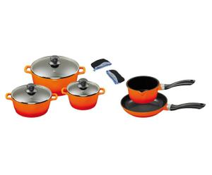 Kochtopf-Set MATILDA, orange, 8-tlg.