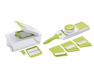Küchenhelfer-Set Linda, 11-tlg, weiß/hellgrün