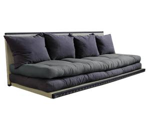 Multifunktionales Futon-Sofa Chico, grau/braun