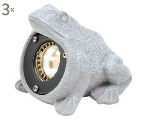 LED-Teichleuchten Sunboro, 3 Stück, Ø 13 cm